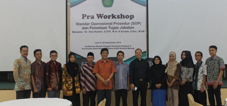 Pra-Workshop Standar Operasional Prosedur (SOP)